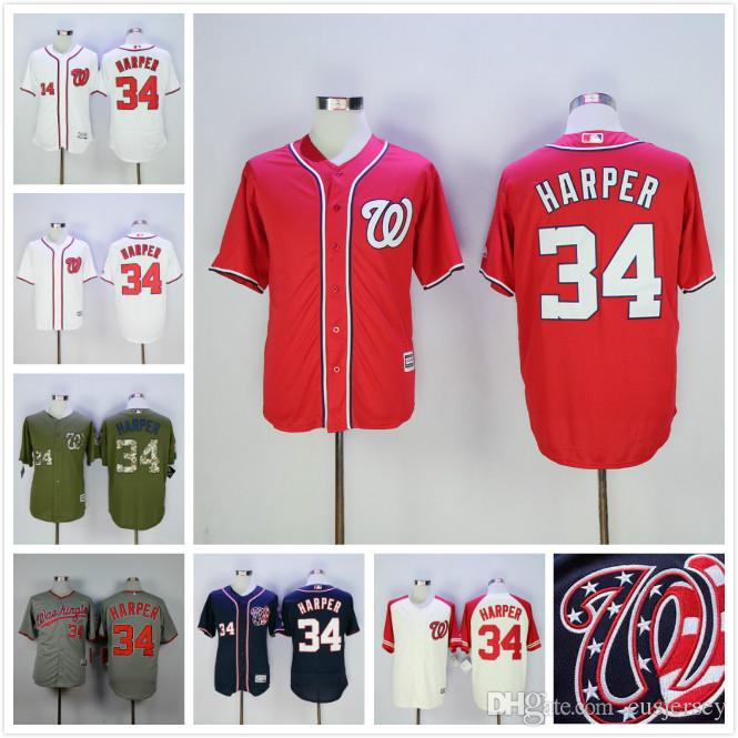 size 40 d52dc 3a573 hot washington nationals 34 bryce harper red jersey 55bcb 5acb8