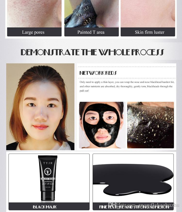 50ml TYJR black mask purifying peel-off mask remove blackheads balance oil clean and fresh natural skincare