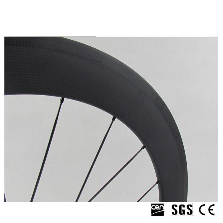 Ruedas de fibra de carbono llenas 700C 60 mm Profundidad 23 mm Ancho 3K Clincher Ancho tubular Brillante Mate Ruedas de carbono con Novatec 271 Hubs