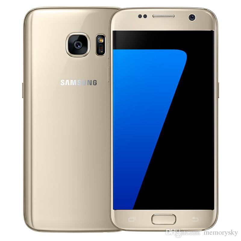 Оригинал Samsung Galaxy S7 G930A G930T G930P G930V G930F Octa Core 4 ГБ / 32 ГБ 5.1-дюймовый Android 6.0 разблокированный телефон Восстановленное