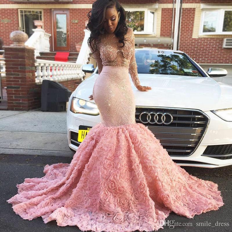 Mermaid Hot Pink Flower Prom Dresses Online Shopping | Mermaid Hot ...