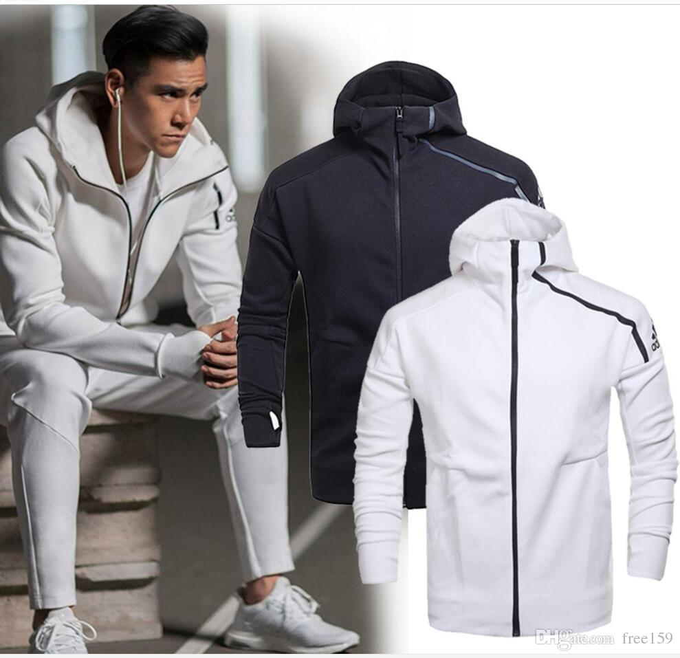 Brand Spring And Fall Men'S Sports Jacket Hooded Jacket Men Casual ...