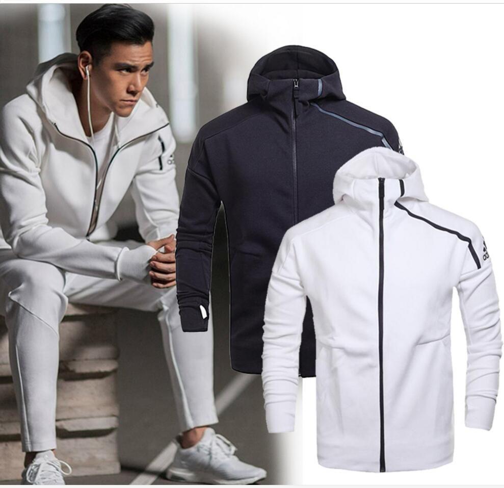 7240463f80b44 Satın Al Marka İlkbahar Ve Sonbahar Erkek Spor Ceket Kapüşonlu Ceket Erkekler  Rahat Ince Rüzgarlık Fermuar Sportwear Moda ZNE Hoody Coats, $39.25 |  DHgate.