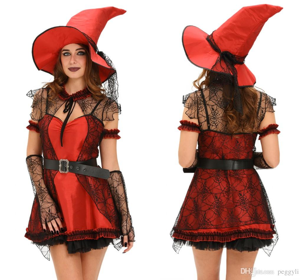 mischievous witch halloween costume womens cosplay clothes kits patchwork halloween costume lc89005 for sexy deguisement adultes funny halloween group