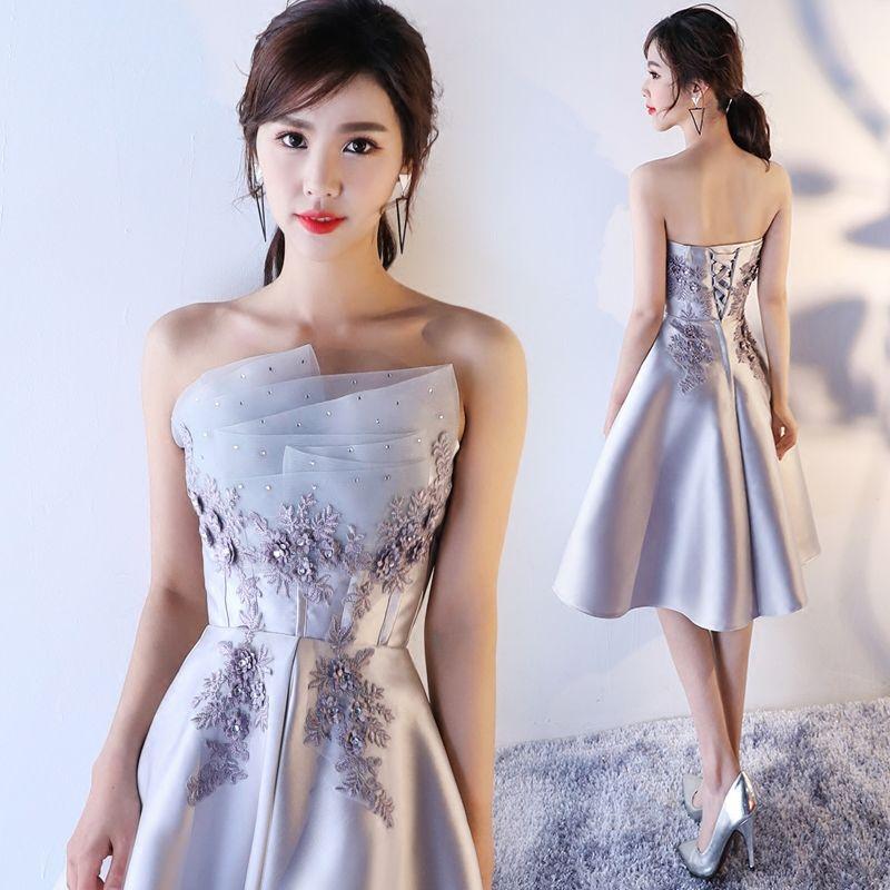 9af1122ae7d5 Cheap Light Grey Elegant Evening Dress Discount Bodycon Bandage Mermaid  Evening Dresses
