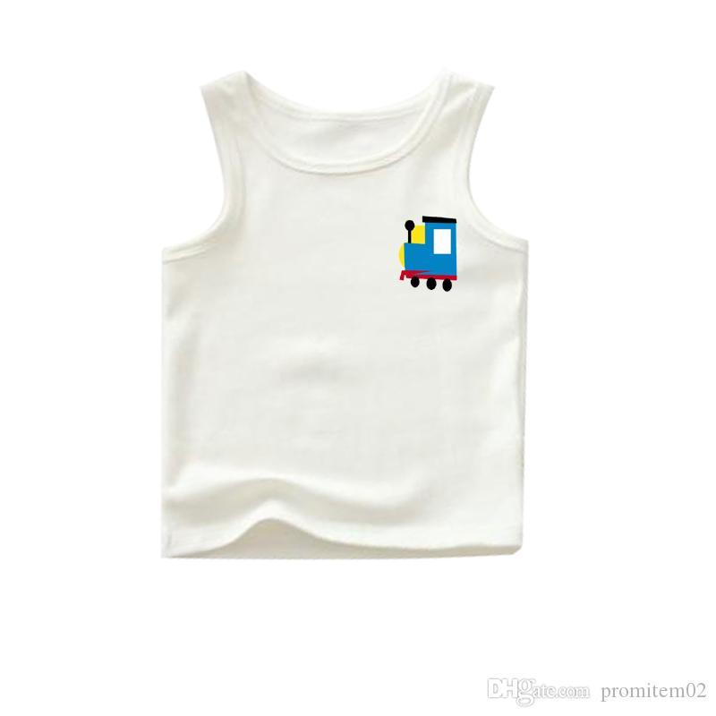 Großhandel Großhandel Boutique Hemden Junge Weiße Tanks Mit Muster ...