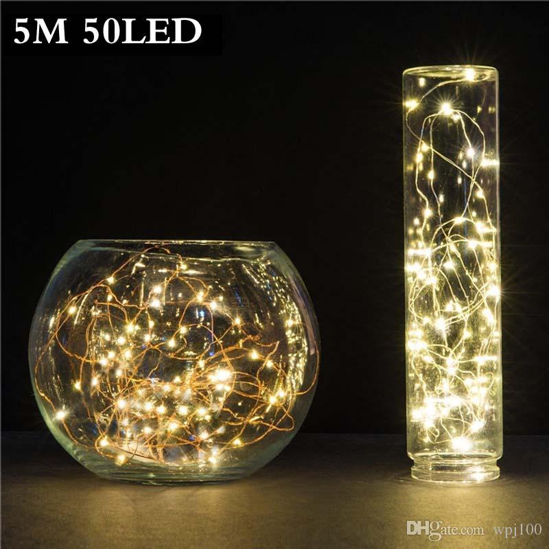 a85aae1970b Compre 5M 50 LED 3XAA Con Pilas Luces De La Secuencia Del LED Para La  Decoración De La Boda Del Partido De La Guirnalda De Navidad Luces De Hadas  Del ...
