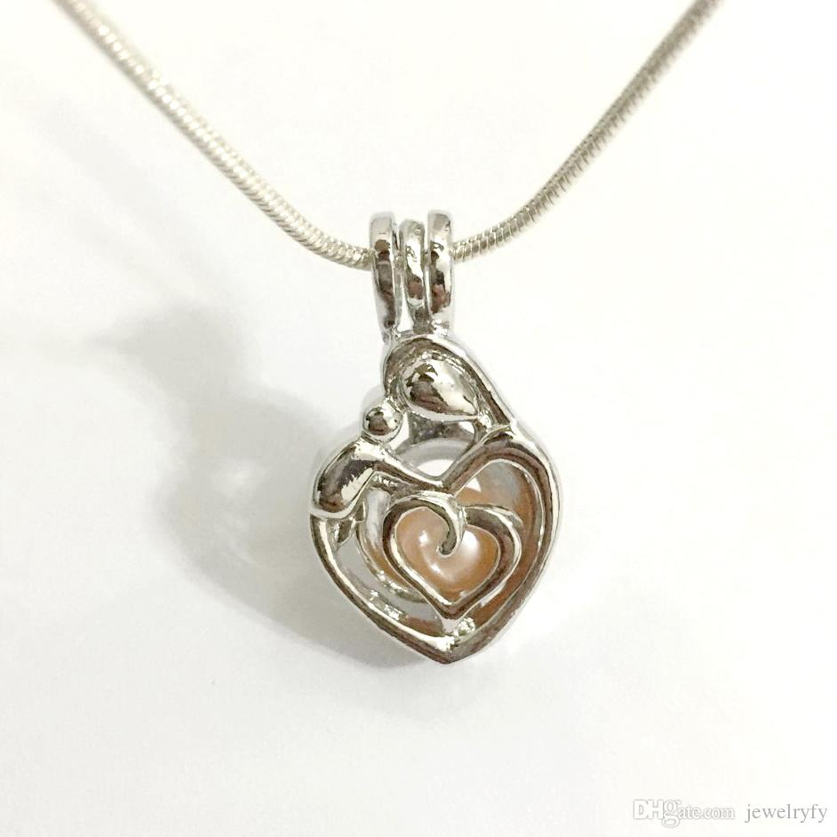 cages s pendants cluci day charms sterling lockets gift pendant family necklace baby in loves silver item mother jewelry hollow heart from
