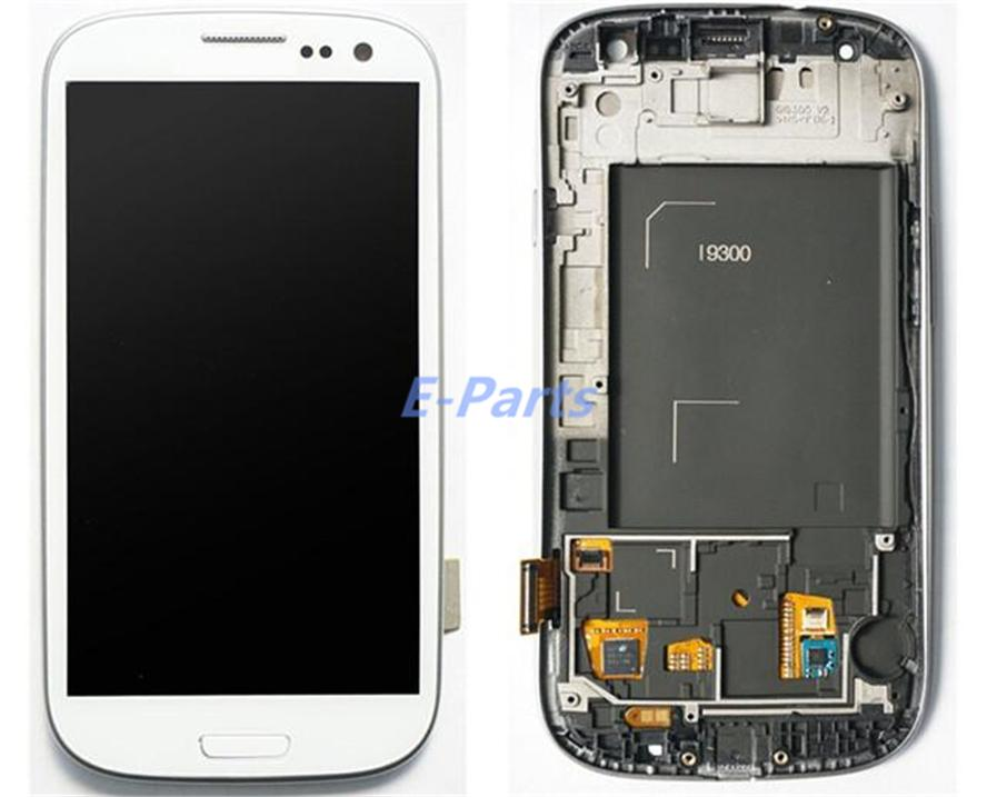 For Samsung Galaxy S3 LCD Display Screen and Digitizer Touch Screen With Logo and Frame i747 L710 T999 i535 i9300 i9305 with Open Tools