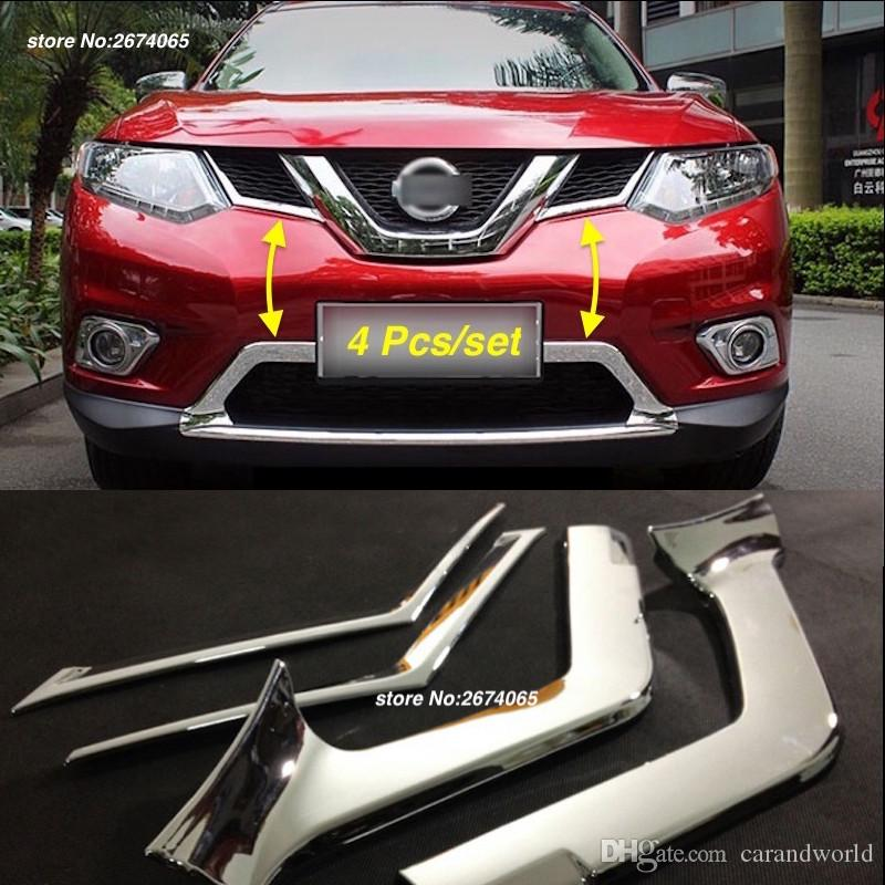 2018 for nissan x trail t32 2014 to 2016 front grille cover trim stickers decoration x trail xtrail rogue abs chrome car styling accessories from