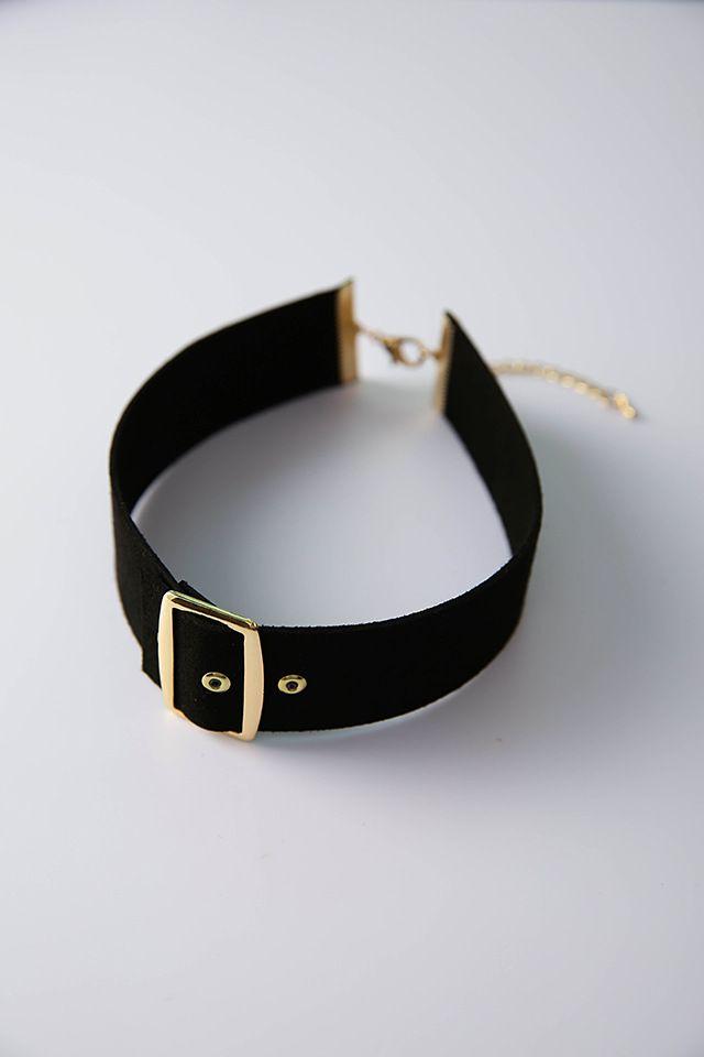 New Wholesale Korean personality Punk wide Belt buckle Choker garment accessories all-match chain simple Necklace Neck strap street wear uni