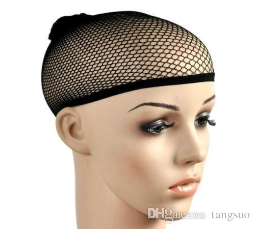 High Quality New Fishnet Weaving Wig Cap Stretchable Elastic Hair Net Snood Wig Caps Black Color Hairnets Accessories