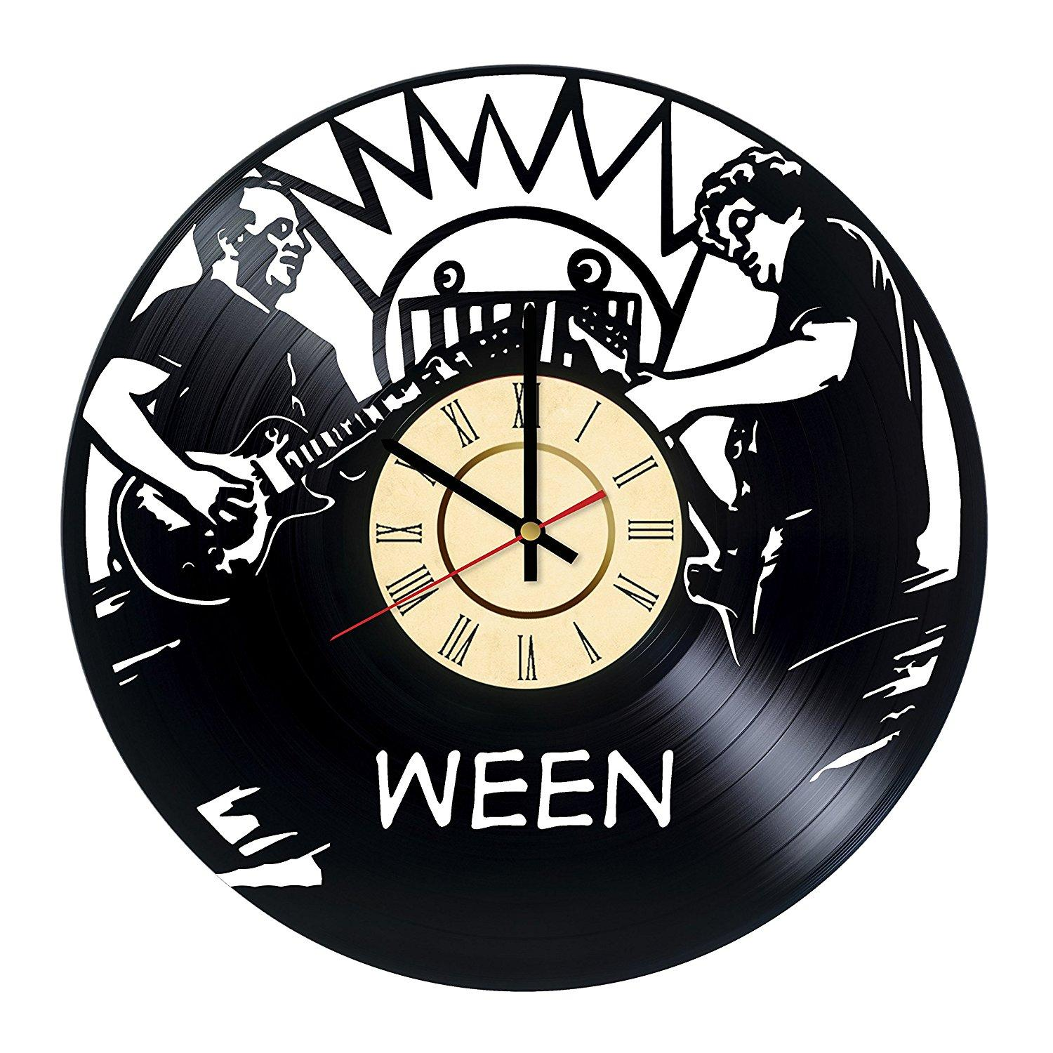 Ween rock band vinyl record wall clock get unique bedroom or home ween rock band vinyl record wall clock get unique bedroom or home room wall decor unique modern music fan art contemporary kitchen clocks contemporary amipublicfo Images