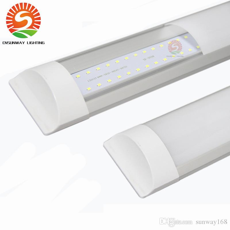 New IP65 T8 LED Batten Lights Integrated 1ft 2ft 3ft Grille Lamp Explosion  Proof & waterproof & dustproof Surface Mounted or Suspended