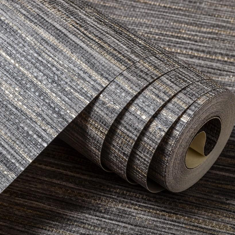 Wholesale Light Tone Grey Straw Wall Paper Grasscloth