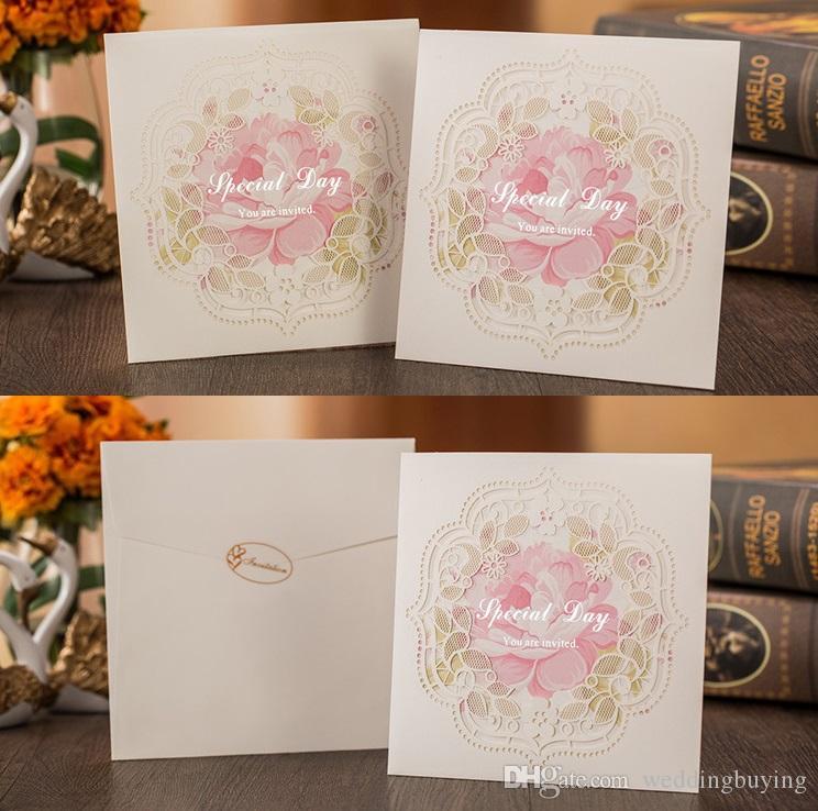 White Color European Designs Wedding Supplier Wedding Invitation