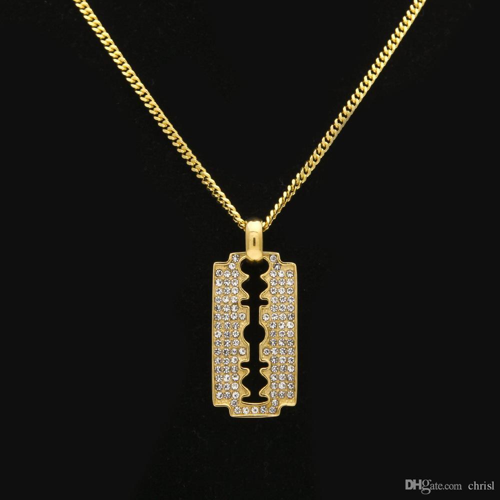 Estilo punky de la joyería occidental collar colgante de titanio para hombre hoja de acero inoxidable para niñas suéter collar de cadena al por mayor