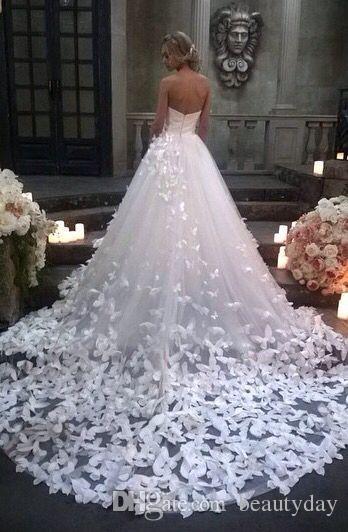 سبيرانزا كوتور 2020 فساتين زفاف الأميرة مع الزهور والفراشات في كاتدرائية قطار العربية ثوب الزفاف حديقة الكنيسة الشرق الأوسط