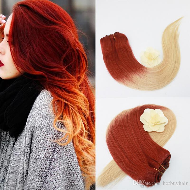 Clip In Hair Extensions Human Hair For Women 100grams Color 35613