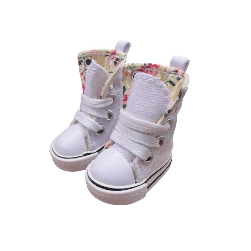 Tilda 3.5cm Doll Boots for Blythe Doll Toy,1/8 Mini Canvas Dolls Shoes for BJD,Casual Puppet Doll Sneakers Accessories One Pair