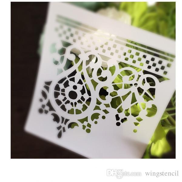 Online Cheap Diy White Stencils Pattern Design Masking Template For ...