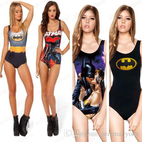 low priced 01489 6d0d4 Sexy BATMAN Badeanzug ein Stück Sexy Bademode S Bodysuit Digitaldruck Ich  bin der Batman Superman Wonder Frau Badeanzug