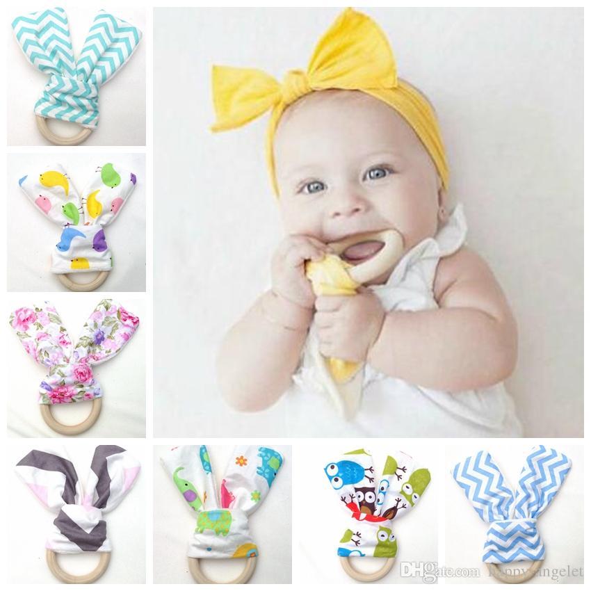 DIY Pineapple Baby Wood Teether Teething Chew Toy Newborn Infant Present CB