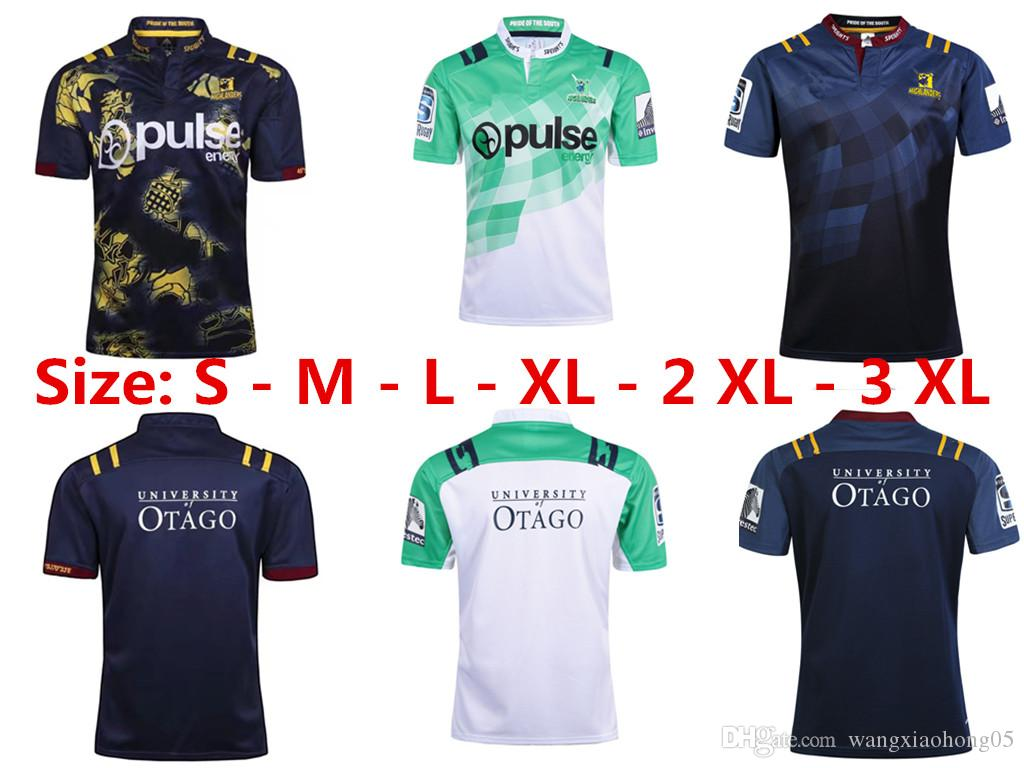 huge discount 8b98b 392d9 Wholesale 16 17 18 Highlanders Rugby jerseys New Zealand Super Rugby Union  Highlanders High-temperature heat transfer jersey Rugby shirt