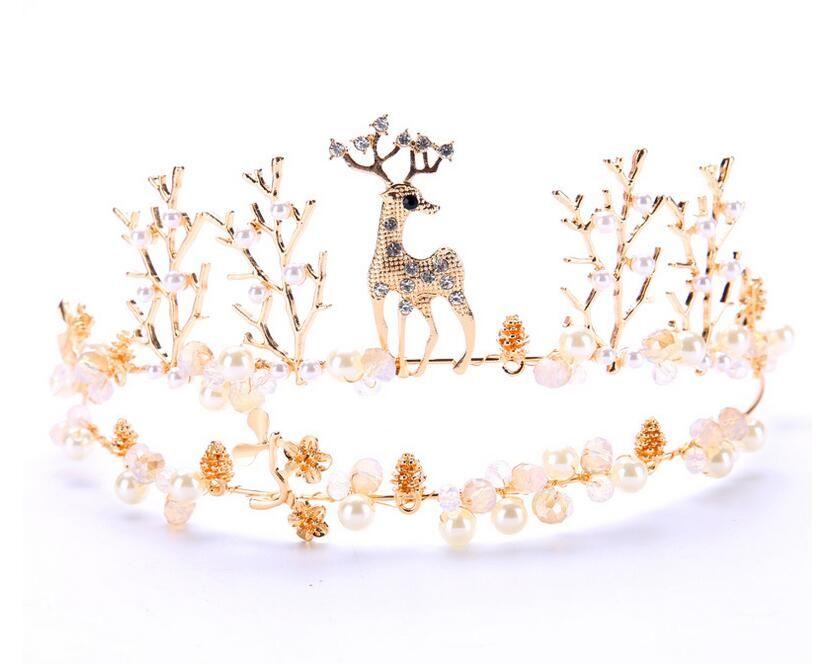 Die Neue Braut Kopfschmuck Schweißen Der Kitz Tier Krone Krone Goldene Hochzeit Zubehör Krone Haar