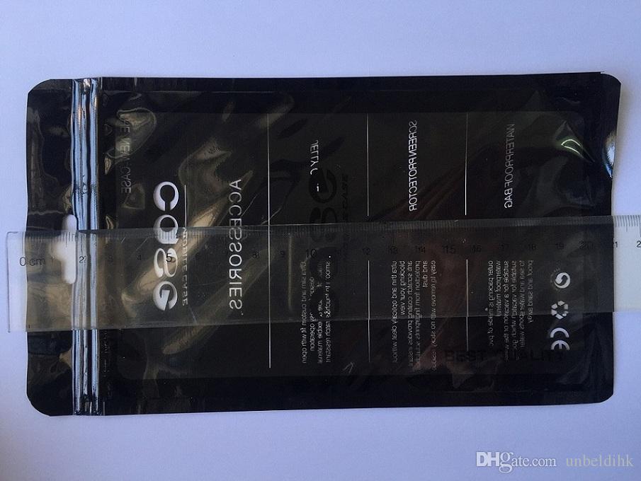 12 * 21cm 블랙 플라스틱 소매 패키지 휴대 전화 케이스 포장에 대 한 폴 리 지퍼 잠금 가방 휴대 전화 디지털 제품 가방에 대 한 포장