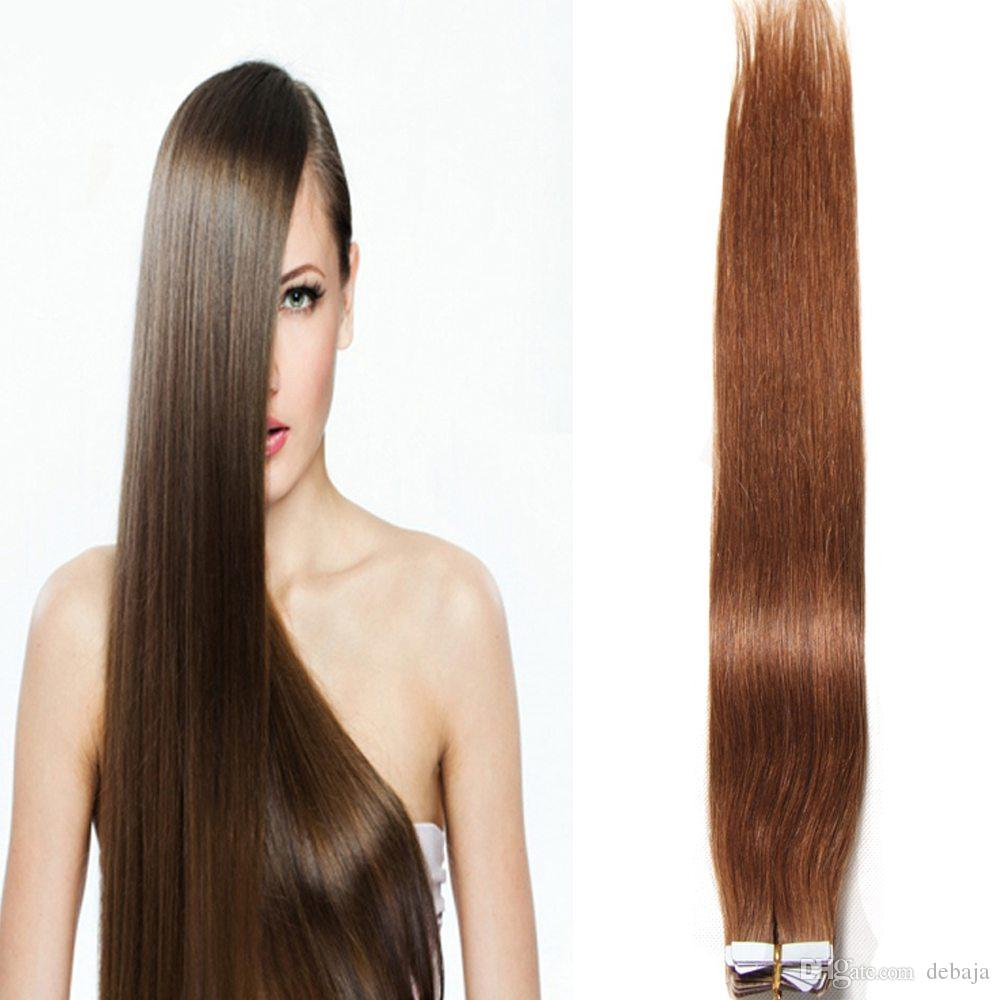 Hot Selling Multi Color Tape In Skin Weft 18 24 Inch Malaysian Skin