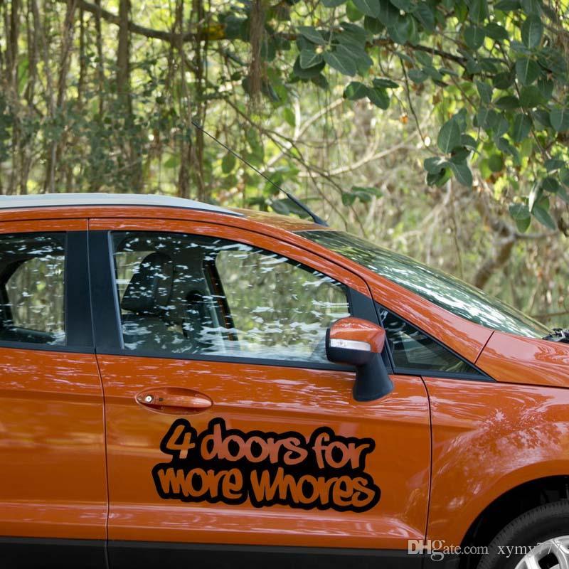 Daha Fahişeler Sticker Komik Araba Şekillendirme Drift Jdm Kamyon Araba Pencere Tampon Vinil Çıkartması Aksesuarları Dekor için 4 Kapılar İçin