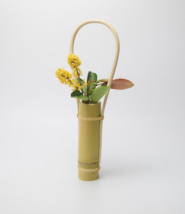 Großhandel Japanische Weiße Bambusblumen Kreative Blumenvasen ...