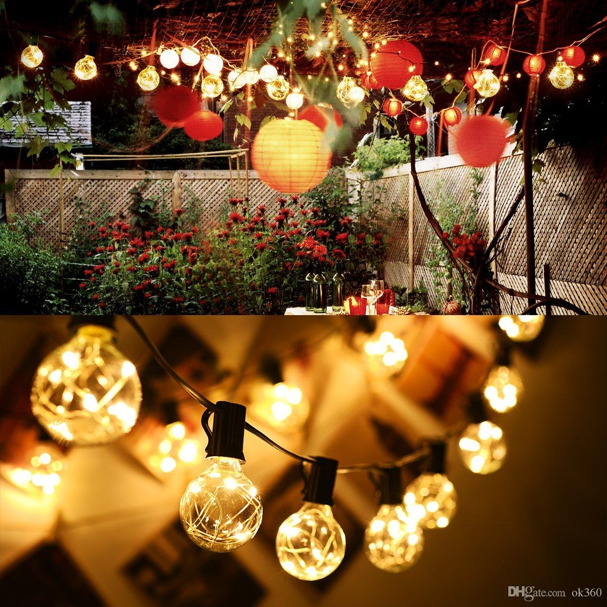 String Lights With 25led G40 Bulbs Outdoor Globe Decorative Copper ...