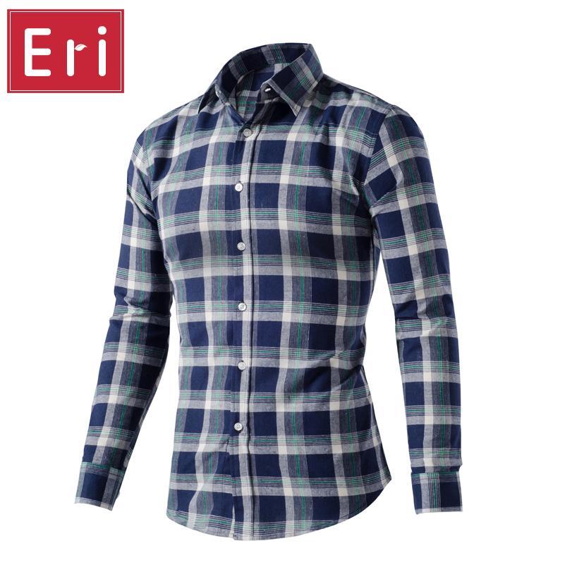 f6c7735b3d8 2019 Wholesale 2017 New Brand Classic Men Plaid Shirt Social Long Sleeve  Men S Warm Casual Shirts British Cotton Check Shirt Slim Design X435 From  Buxue