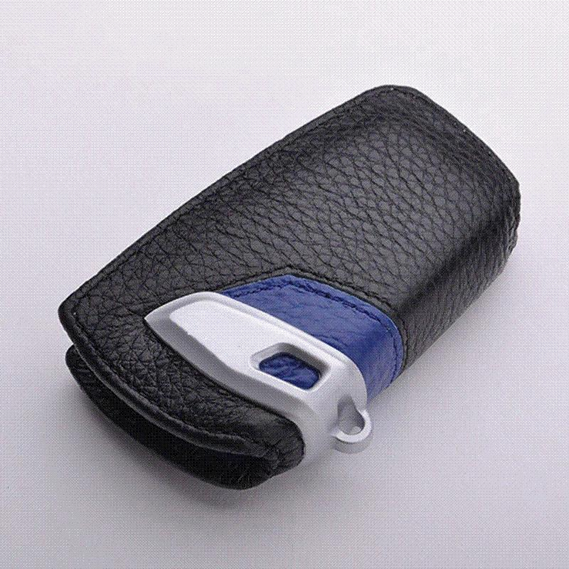 Genuine Leather Car Key Stickers Cover For Bmw F10 F20 F30 New 1 2 3 4 5 6  7 Series X3 X4