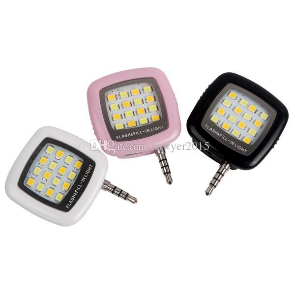 Сотовый телефон камеры заполнить свет мини 3.5 мм смартфон портативный 16 светодиодов LED Flash заполнить свет для iPhone IOS Android