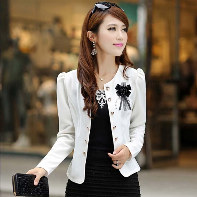 Wholesale New 2017 Spring Short Women Summer Style Autumn Plus Size  Clothing Outerwear Slim Women Coat Jacket Feminino Women Blaser P1854 Womens  Leather ... 71d385a219