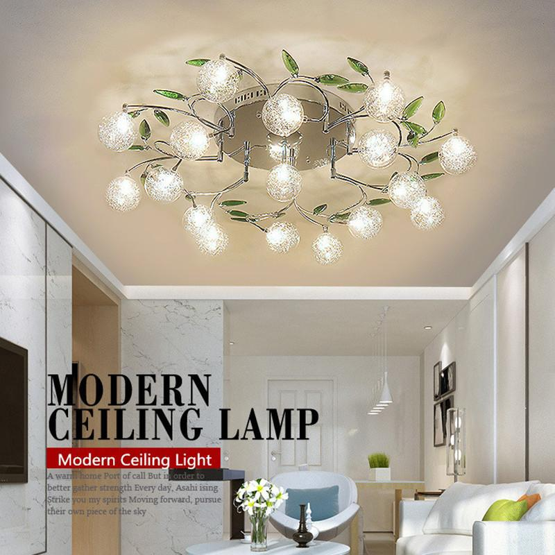 Modern lustre crystal LED ceiling lamp Flower Lamp shade bedroom balcony aisle ceiling lamps light fixture lighting luminaire