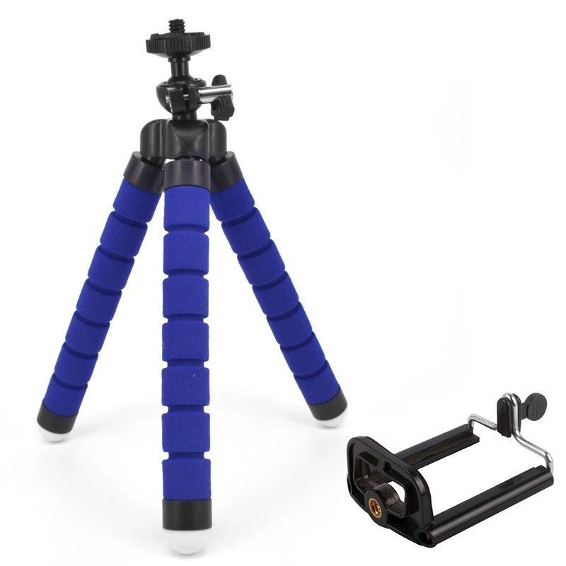Hot Flexible Tripod Holder For Cell Phone Car Camera Gopro Universal Mini Octopus Sponge Stand Bracket Selfie Monopod Mount With Clip
