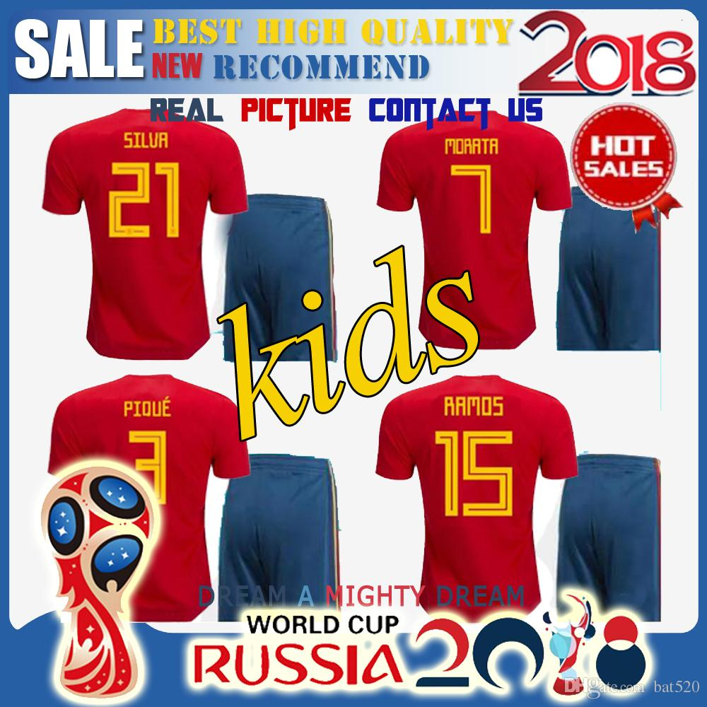 c0b020356 ... home jersey  youth isco spain soccer jersey red 2016 uefa european  football championship 22 adidas authentic 2018 world