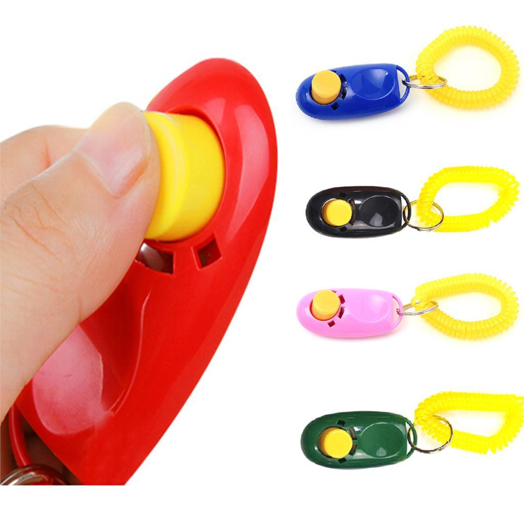2017 Newest Universal Animal Pet Training Clicker Obedience Aid + Wrist Strap Light Weight fast delivery