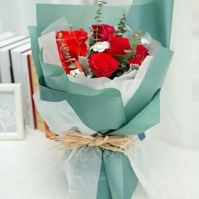 2019 Korean Flowers Waterproof Paper Packaging Gift