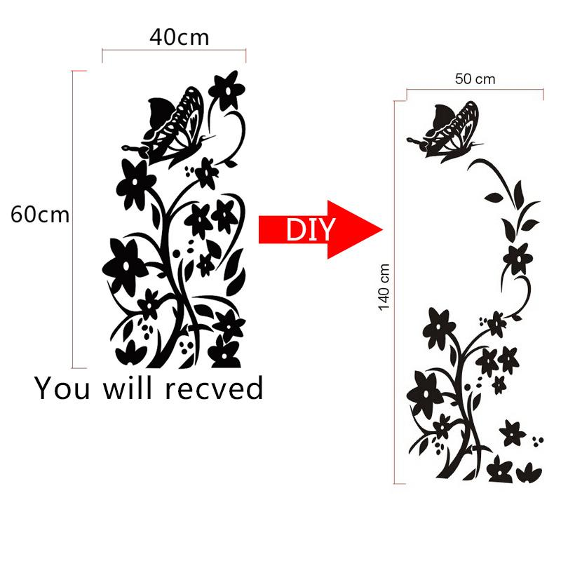 butterfly flower wall stickers refrigerator decorations diy home decals vinyl art mural posters wallpaper adesivos de paredes