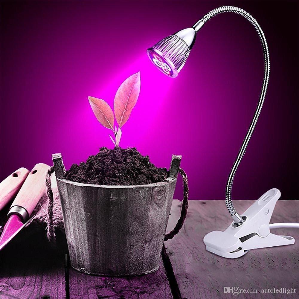 Kapalı Bitkiler için LED Büyümek Işıkları 5 W Klip Işık Lambası esnek Topraksız Bahçe Sera Çiçek Exhibiti Için 360 derece