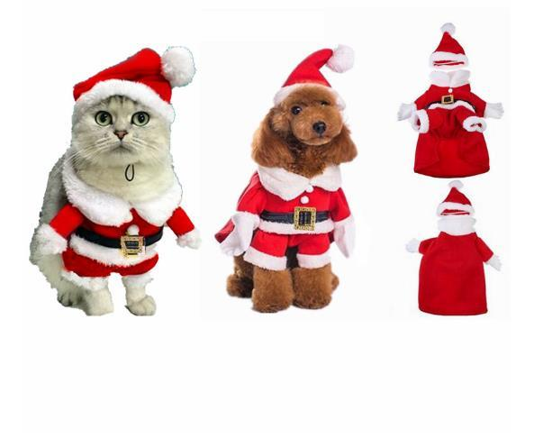 2017 Christmas Dog Costume Santa Claus Pet Cat Clothes Costume ...