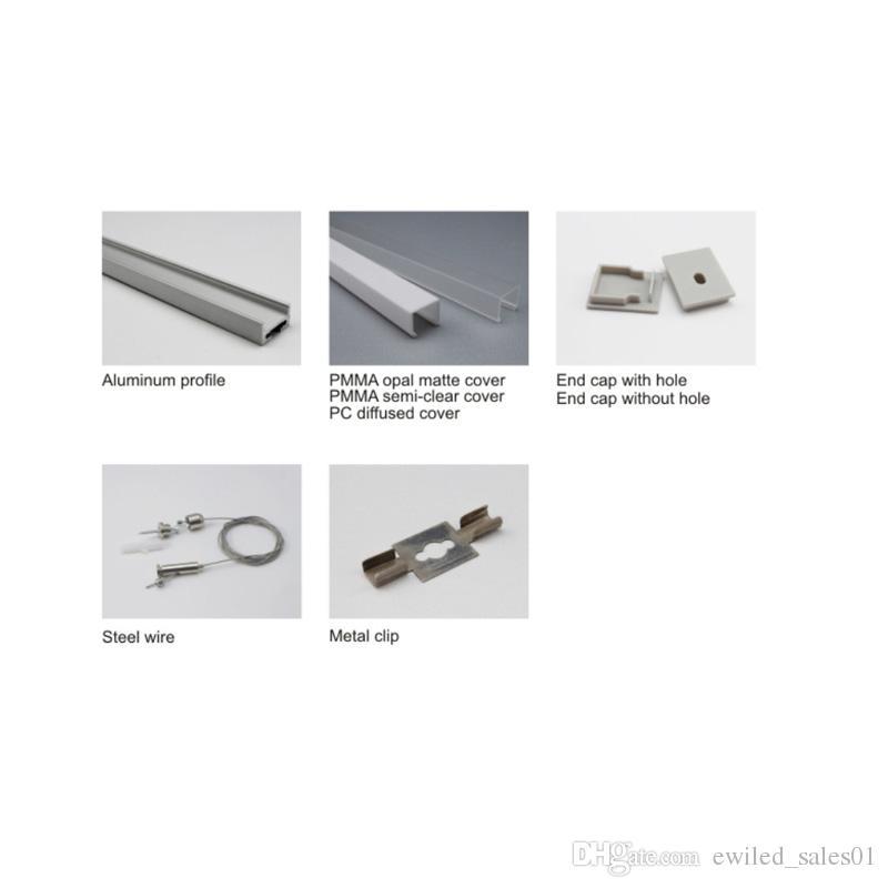 10 x 1m define / U tipo de perfil de alumínio anodizado e AL6063 T6 levou perfil 1M para teto ou pingente de iluminação
