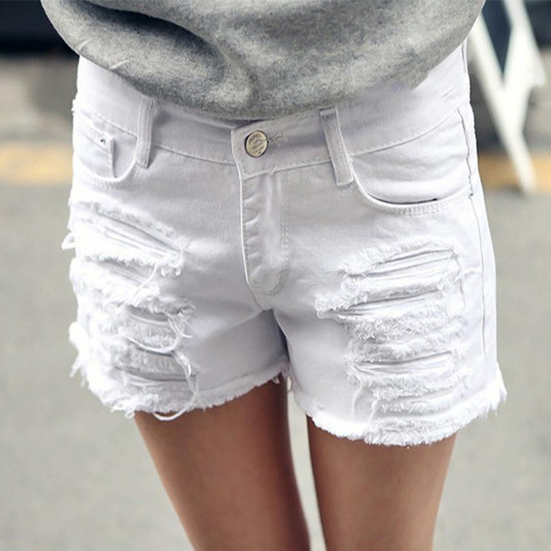 2017 Plus Size 6xl White Denim Shorts Women 2016 Summer Fashion ...