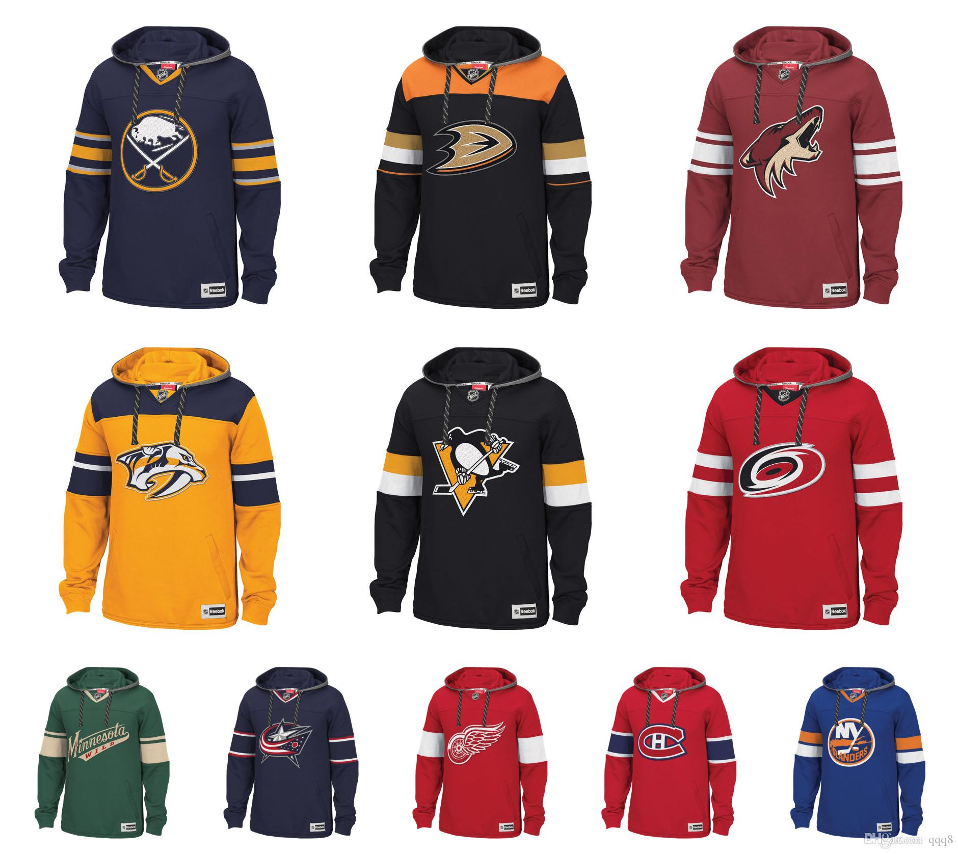 2019 Custom NHL Hockey Hoodie Pullover Nashville Predators Detroit Red  Wings Montreal Canadiens San Jose Sharks Pittsburgh Penguins Sabres From  Qqq8 3bf0c6c15