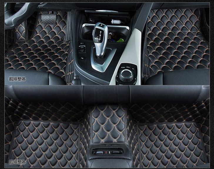 Leather For Custom Fit Car Floor Mats For Honda Accord Civic Crv